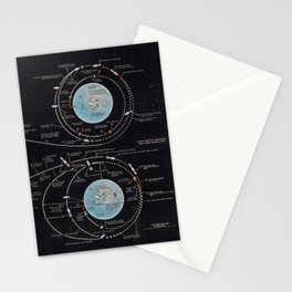 Vintage Diagram of The Apollo Mission (1969) Stationery Cards