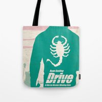 drive Tote Bags featuring DRIVE by Alain Bossuyt