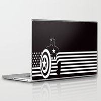 captain Laptop & iPad Skins featuring captain by MISTER BLACKWHITE