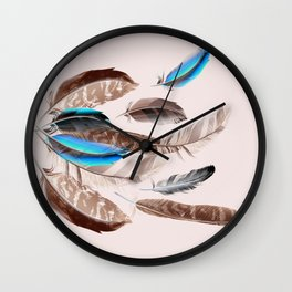 Feather in fashion Wall Clock