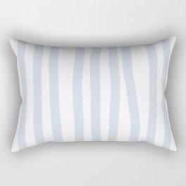 Light Blue Stripes Rectangular Pillow