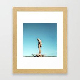 Lonely old man Framed Art Print