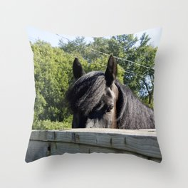 Look me in the eyes Throw Pillow