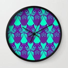 Pollo Cyan Purple Wall Clock