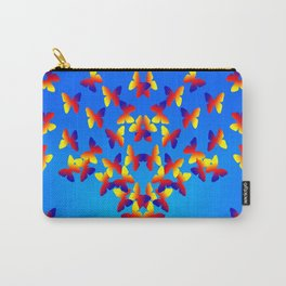 Bright Butterfly Fountain on Blue Carry-All Pouch