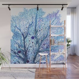 Fan Coral - Blue Wall Mural
