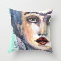 jane davenport Throw Pillows featuring Frida Forever by Jane Davenport by Jane Davenport
