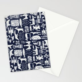 Inuit Eskimo Carvings by Nettwork2Design - Nettie Heron-Middleton Stationery Cards