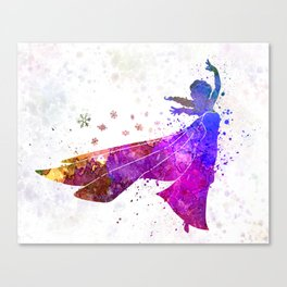 Elsa The Snow Queen in watercolor Canvas Print