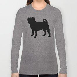 Simple Pug Silhouette Long Sleeve T-shirt