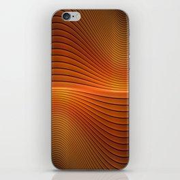 Orange Sine Wave iPhone Skin