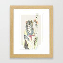 Nostalgic Geisha Framed Art Print