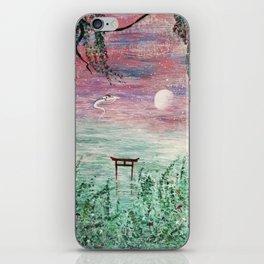 Haku and Chihiro Painting iPhone Skin
