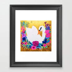 White Swan Framed Art Print