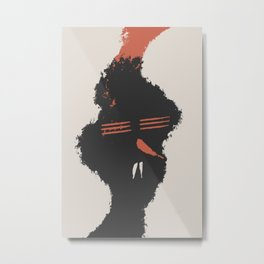 Red Chili Nose Metal Print