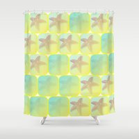 starfish Shower Curtains featuring Starfish by Gaspar Avila