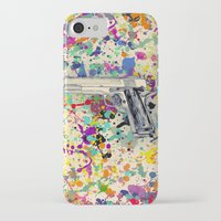 gun iPhone & iPod Cases featuring Gun by Maressa Andrioli