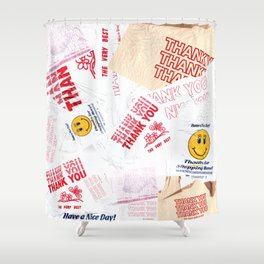 Thank You Take-Out Shower Curtain