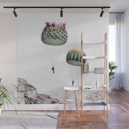 Flying Cacti Wall Mural