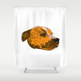 Max the Staffy Shower Curtain