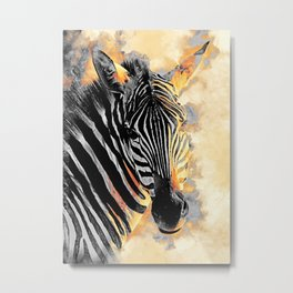 zebra #zebra #animals Metal Print