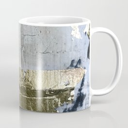 Elegantly Rough: an abstract, minimal piece in gold, pink, black and white by Alyssa Hamilton Art Coffee Mug