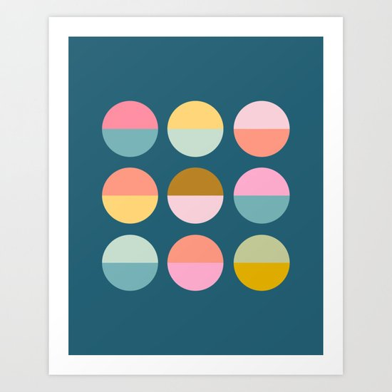 Colorful and Bright Circle Pattern by junejournal