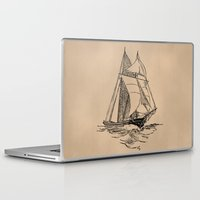sailing Laptop & iPad Skins featuring Sailing by Texnotropio