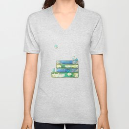 Alley Cats and the Blue Moon Unisex V-Neck