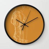 vampire weekend Wall Clocks featuring Spring Breakers/Vampire Weekend (Orange) by Blake Holland