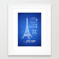 eiffel tower Framed Art Prints featuring  Eiffel Tower by mewdew