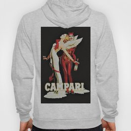 Vintage Campari Italian Bitters Aperitif Angel and Devil Advertisement Poster Hoody