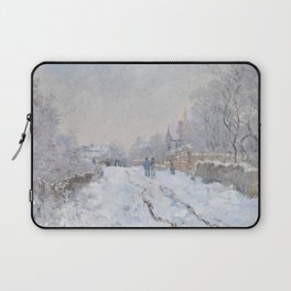 Snow Scene at Argenteuil by Claude Monet Laptop Sleeve