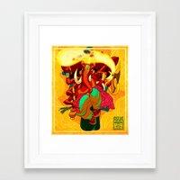 ganesh Framed Art Prints featuring Ganesh by marekolani