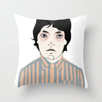 stripes Throw Pillows featuring Stripes by Le Butthead
