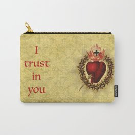 I trust in you Yellow Carry-All Pouch