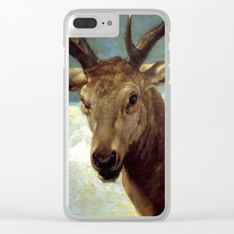 """Diego Velázquez """"Head of a Stag"""" Clear iPhone Case"""