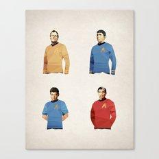 Polygon Heroes - Trekkies Canvas Print