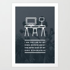 I AM THE LAB - Manini Beach Art Print
