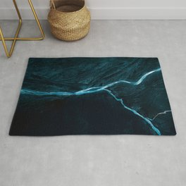 Void River – Minimalist Landscape Photography Rug