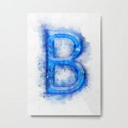 B Letter Metal Print