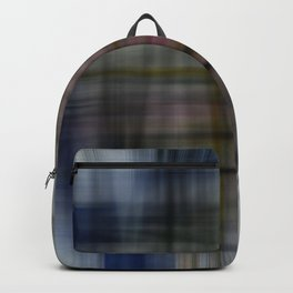 Deconstructed Abstract Scottish Plaid Pattern Backpack