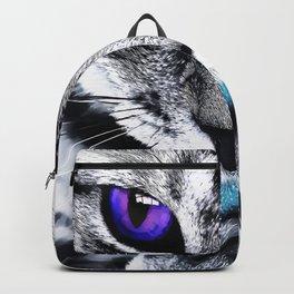 Purple eyes Cat Backpack