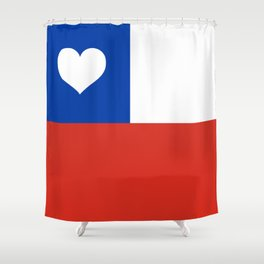 Texas State Flag with Heart Shower Curtain