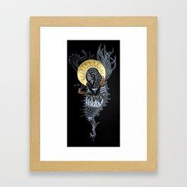 With a Golden Glow Framed Art Print