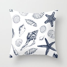 Underwater creatures Throw Pillow