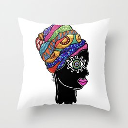 portrait 5 Throw Pillow