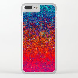 Glitter Dust Background G172 Clear iPhone Case