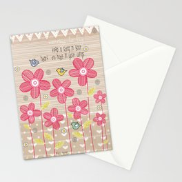 Keep a Song in Your Heart and Hope in Your Wings Stationery Cards