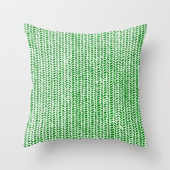 Stockinette Green Throw Pillow